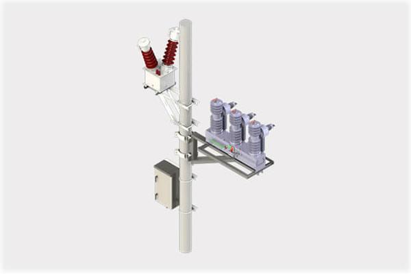 Recloser on pole