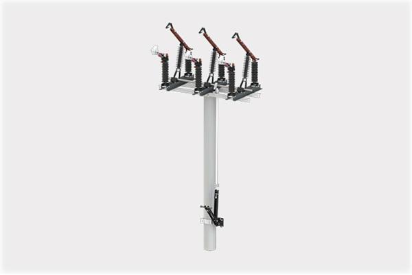 Pole mounted air load break switch